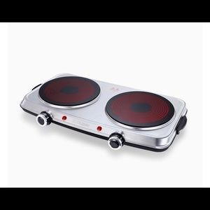 Hot Plates for Cooking, 1800W Electric Double Burn
